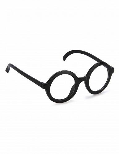 Runde Retro-Brille schwarz