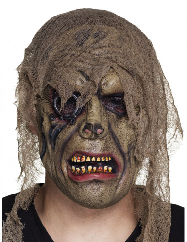 Geister-Pirat Halloween-Maske grün-braun