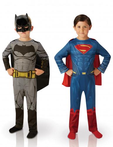 Kinderkostüm-Set Batman™ und Superman™ bunt