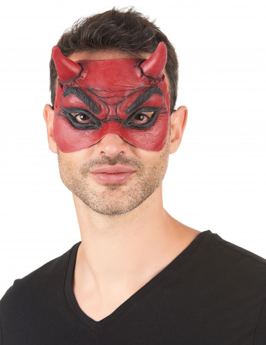 Teufel-Augenmaske rot-schwarz