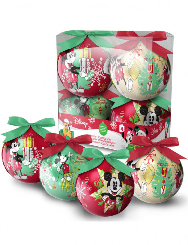 Billige Christbaumkugeln.Christbaumkugeln Weihnachten Lizenzware Mickey Mouse 4 Stuck Bunt