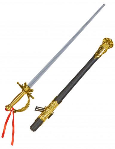 Piraten-Degen Musketier-Degen grau-gold-schwarz