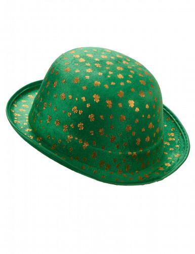 St. Patrick's Day Party-Hut Kleeblatt für Erwachsene grün-gold