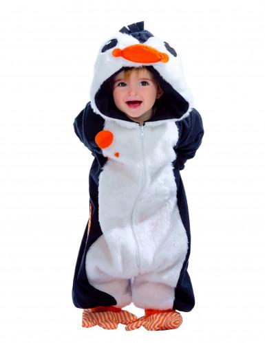 Süßes Pinguin Kostüm Overall für Kleinkinder weiss-blau-orange ...