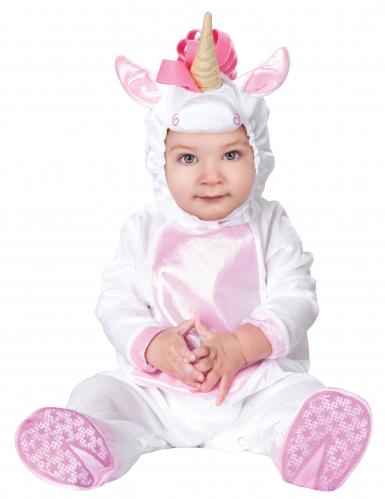 Süßes Einhorn Strampler Baby Kostüm weiss-rosa