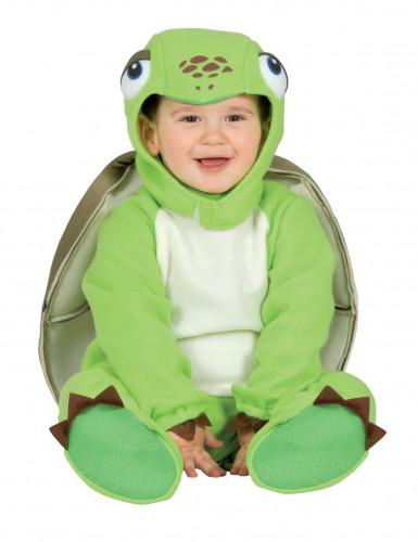 Schildkröten-Kleinkinderkostüm grün