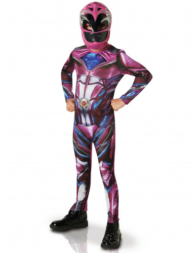 Power Rangers™ Kinderkostüm Superhelden pink
