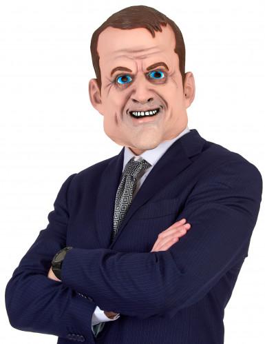 Latex-Erwachsenenmaske Emmanuel witzige Politiker-Maske beige
