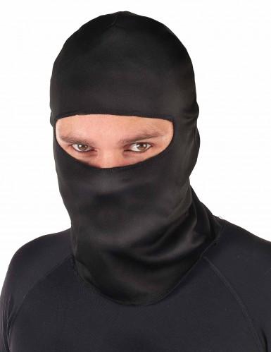 Erwachsenen-Strumpfmaske Ninja schwarz