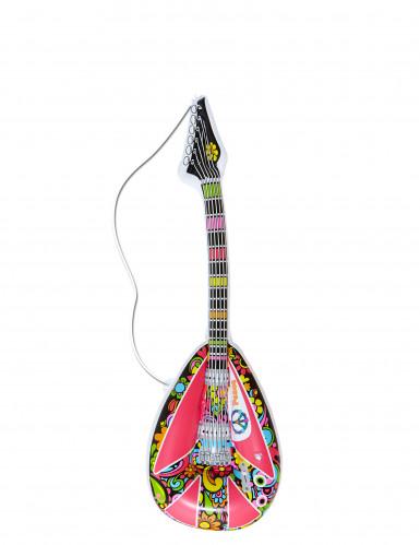 Aufblasbare Mandoline Kostüm-Zubehör bunt 105cm
