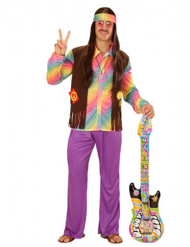 psychedelischer hippie kost m 60er jahre bunt g nstige. Black Bedroom Furniture Sets. Home Design Ideas