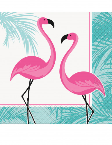 flamingo servietten party deko 16 st ck rosa t rkis 33x33cm g nstige faschings partydeko. Black Bedroom Furniture Sets. Home Design Ideas