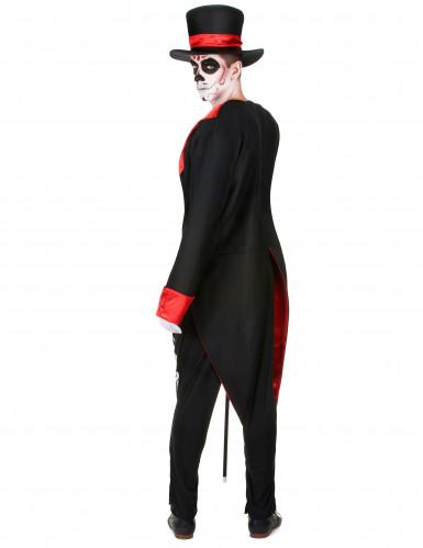 schickes skelett herren kost m schwarz rot weiss g nstige faschings kost me bei karneval megastore. Black Bedroom Furniture Sets. Home Design Ideas