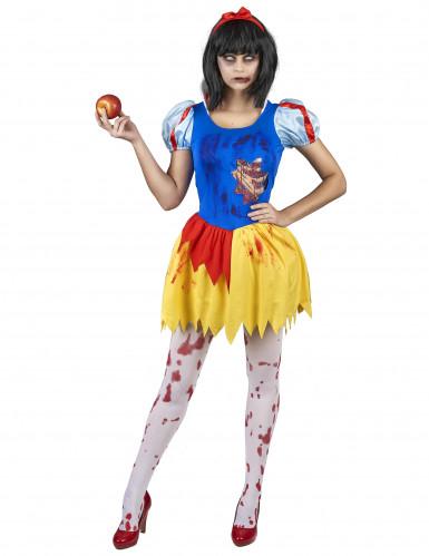 Märchenkostüm für Halloween blau-gelb-rot