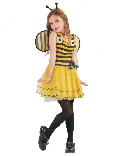 Niedliches Hummel-Kinderkostüm Bienenkostüm gelb-schwarz