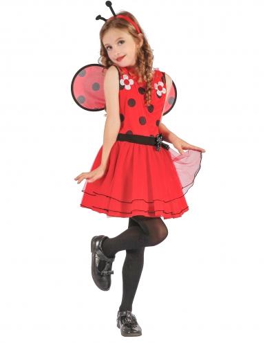Marienkäfer-Mädchenkostüm Tier rot-schwarz