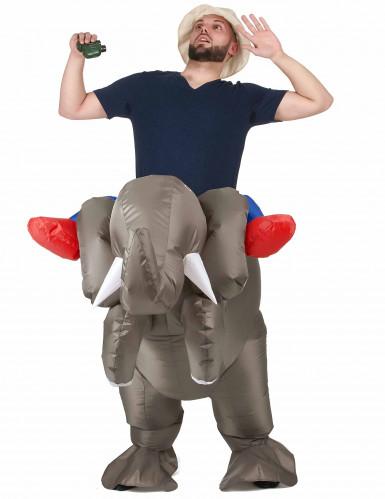 aufblasbares carry me kost m elefant grau blau g nstige faschings kost me bei karneval megastore. Black Bedroom Furniture Sets. Home Design Ideas