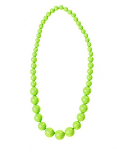 80er-Jahre Perlenkette neongrün