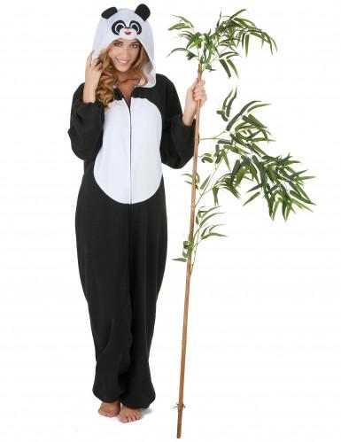 Panda-Damenkostüm Tierkostüm schwarz-weiss