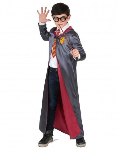 Magisches Schüler für Zauberkünste Jungenkostüm grau-rot