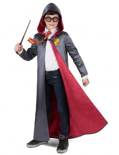 Magisches Schüler für Zauberkünste Jungenkostüm grau-rot-1