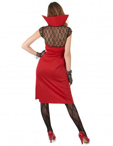 Sexy Damenkostüm Vampir rot-schwarz-1