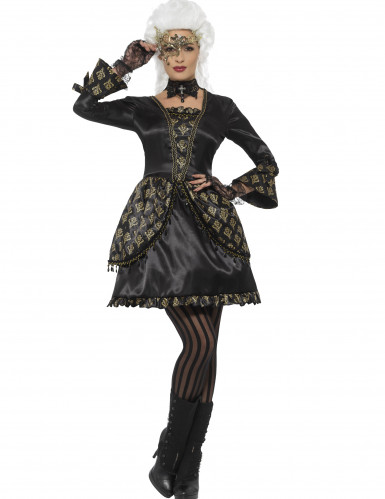 Edles Barock-Kostüm schwarz-gold