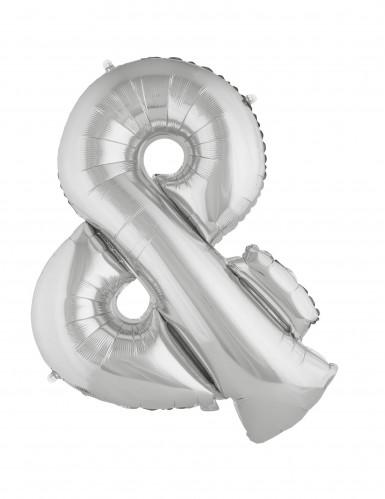Riesiger Schriftzeichen-Ballon & silber 80cm