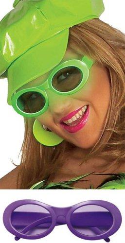 80er Jahre Neon Brille lila
