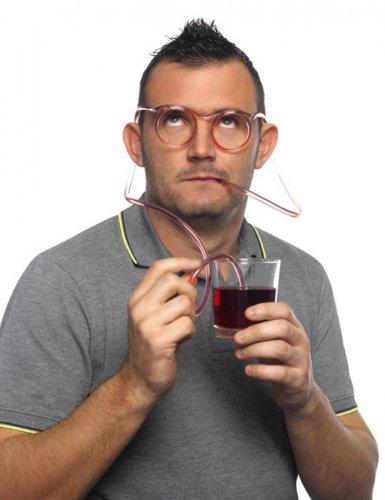 Trinkbrille Scherzartikel Party-Gadget transparent