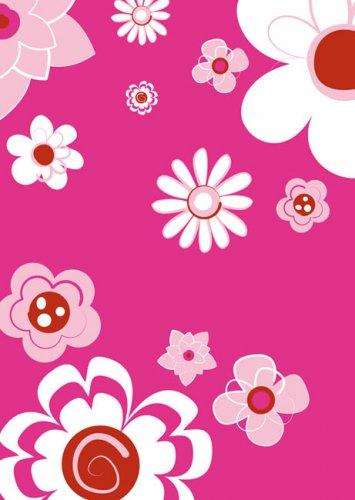 Tischdecke Blumen Party-Deko pink-weiss 120x180cm