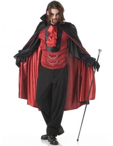 Fürst der Nacht Vampir-Kostüm für Herren schwarz-rot
