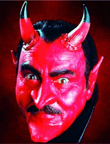 Latex-Applikation Teufel Nase und Kinn rot