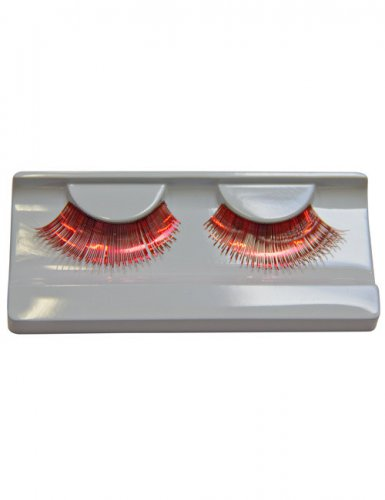 Wimpern Metallic rot