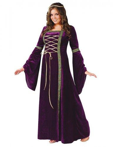 Edles Renaissance-Kleid Damenkostüm XXL lila