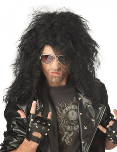 Heavy Metal Rocker Perücke schwarz