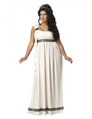 Griechische Göttin Damenkostüm übergröße beige-braun , günstige ...