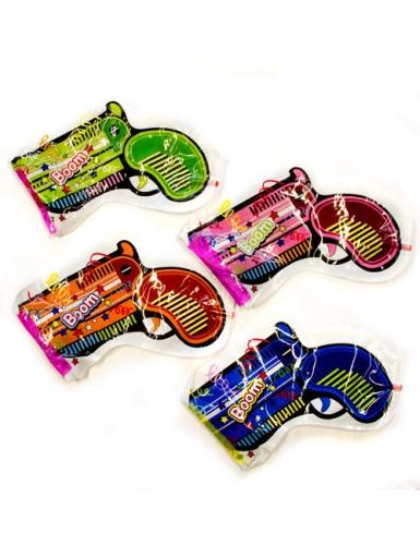 konfetti pistole zum aufblasen scherzartikel bunt 23x17x8. Black Bedroom Furniture Sets. Home Design Ideas