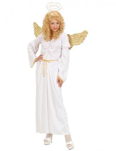 Bezaubernder Engel Damenkostüm Weihnachten weiss-gold