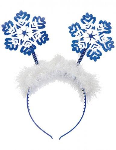 schneeflocke haarreif weihnachten weiss blau g nstige. Black Bedroom Furniture Sets. Home Design Ideas