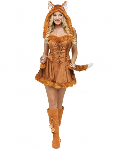 Sexy Fuchs Damenkostüm rotbraun