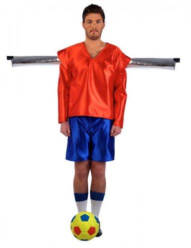 Kickerfigur Fußballer Kostüm orange-blau
