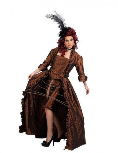 Barock Showgirl Damenkostüm goldbraun