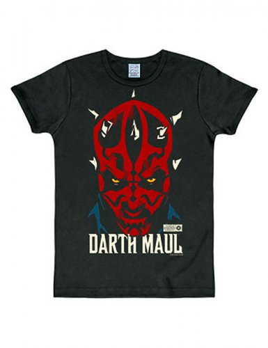 Darth Maul-T-Shirt Star Wars™ Slim Fit schwarz-rot-weiss