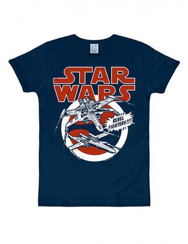 X-Wings-T-Shirt Star Wars™ Slimfit blau-rot-weiss