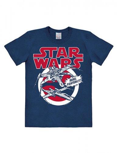Star Wars™-T-Shirt X-Wings Easyfit blau-rot-weiss