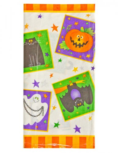 halloween kinderparty pappgeschirr tischdecke bunt 137x259cm g nstige faschings partydeko. Black Bedroom Furniture Sets. Home Design Ideas
