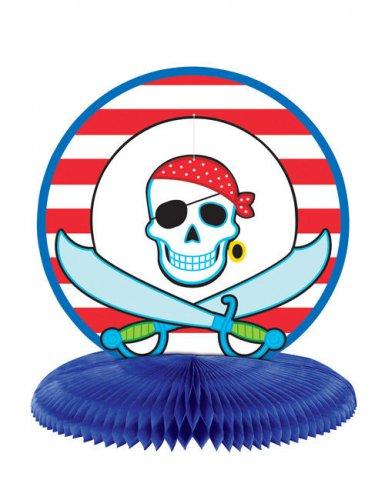 Piraten Party Tischdeko rot-weiss-blau 24cm