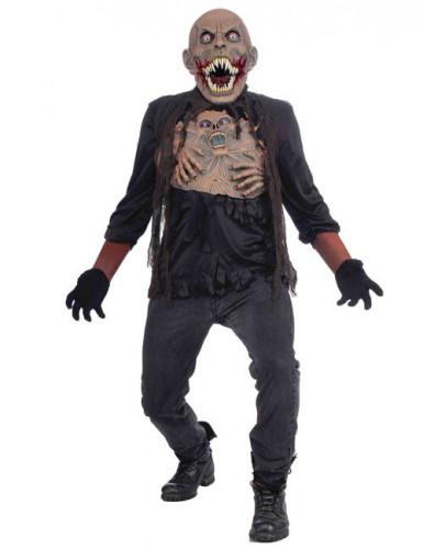 Monster-Mutant Halloween-Kostüm schwarz-braun