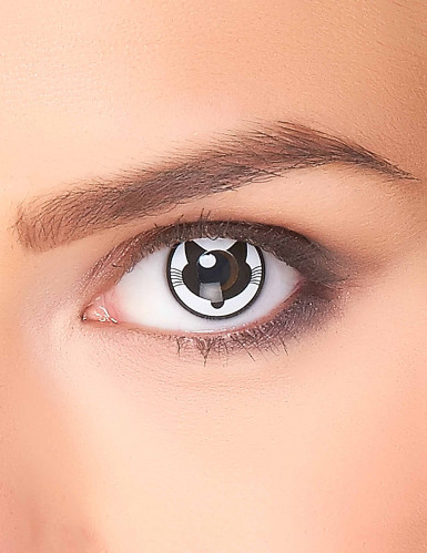 kontaktlinsen katze weiss schwarz g nstige faschings. Black Bedroom Furniture Sets. Home Design Ideas